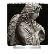 Beautiful Angel Praying Hands Christian Art Print Shower Curtain by Kathy Fornal