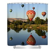 Beautiful Balloon Day Shower Curtain by Carol Groenen
