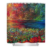 BEAUTIFUL DAY Shower Curtain by TERESA WEGRZYN