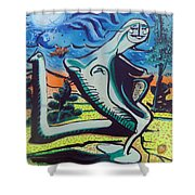 Beautiful Dreamer Bella Reveuse Au Le Monde Shower Curtain by Feile Case