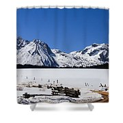 Beautiful Sawtooth Mountains Shower Curtain by Robert Bales