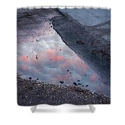 Beauty Is Everywhere - Sky Reflected In Puddle Of Water Shower Curtain by Matthias Hauser