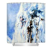 Because It's There Shower Curtain by Hanne Lore Koehler