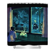 Bedtime Stories Shower Curtain by Erik Brede