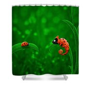 Beetle Chameleon Shower Curtain by Gianfranco Weiss