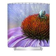 Beetlemania Shower Curtain by Juli Scalzi