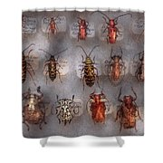 Beetles - The Usual Suspects  Shower Curtain by Mike Savad