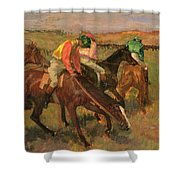 Before The Races Shower Curtain by Edgar Degas