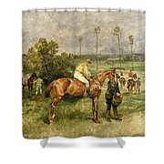 Before The Start Shower Curtain by John Lewis Brown