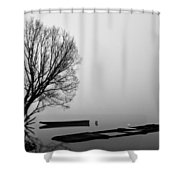 Beginning of the End Shower Curtain by Davorin Mance