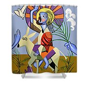 Behold The Lamb Of God Shower Curtain by Anthony Falbo