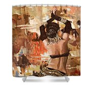 Belly Dancer Back Shower Curtain by Corporate Art Task Force