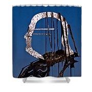 Ben Franklin Shower Curtain by Rona Black