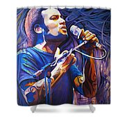 Ben Harper And Mic Shower Curtain by Joshua Morton