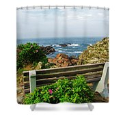 Marginal Way Shower Curtain by Diane Valliere