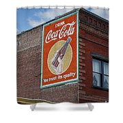 Bend Oregon Coke Sign Shower Curtain by Gary Grayson