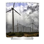 Beneath The Clouds Palm Springs Shower Curtain by William Dey