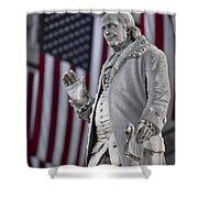 Benjamin Franklin Shower Curtain by Eduard Moldoveanu