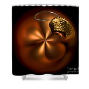 Bent Bauble Shower Curtain by Anne Gilbert