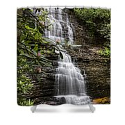 Benton Falls Shower Curtain by Debra and Dave Vanderlaan