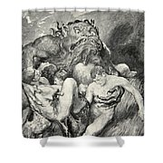 Beowulf Print Shower Curtain by John Henry Frederick Bacon
