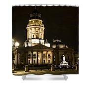 Berlin Gendarmenmarkt Shower Curtain by Frank Tschakert