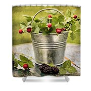 Berries Shower Curtain by Darren Fisher