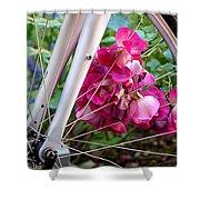 Bespoke Flower Arrangement Shower Curtain by Rona Black