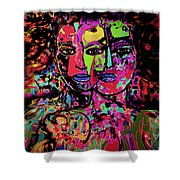 Best Friends Forever Shower Curtain by Natalie Holland