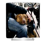 Best Pal Shower Curtain by Ivy Ho