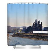Bethlehem Steel and the Lehigh River Shower Curtain by Bill Cannon