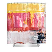 Better Days- Large Abstract Shower Curtain by Linda Woods