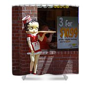 Betty Boop 1 Shower Curtain by Frank Romeo