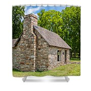 Beverly Mill Store Shower Curtain by Guy Whiteley