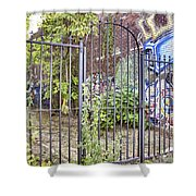 Beyond The Gate Shower Curtain by Jason Politte