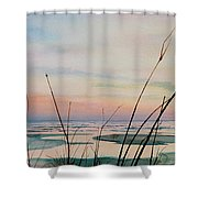 Beyond The Sand Shower Curtain by Hanne Lore Koehler