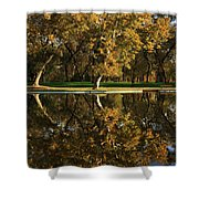 Bidwell Park Reflections Shower Curtain by James Eddy