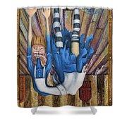 Big Alice Little Door Shower Curtain by Kelly Jade King