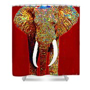 Big Elephant 20130201p0 Shower Curtain by Wingsdomain Art and Photography