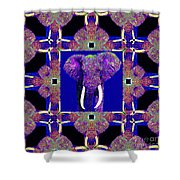 Big Elephant Abstract Window 20130201m118 Shower Curtain by Wingsdomain Art and Photography
