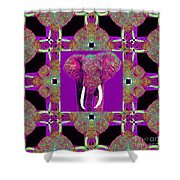 Big Elephant Abstract Window 20130201m68 Shower Curtain by Wingsdomain Art and Photography