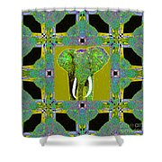 Big Elephant Abstract Window 20130201p60 Shower Curtain by Wingsdomain Art and Photography