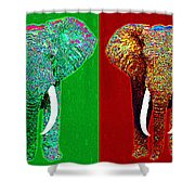 Big Elephant Six 20130201 Shower Curtain by Wingsdomain Art and Photography