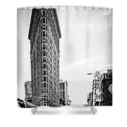 big in the big apple - bw Shower Curtain by Hannes Cmarits
