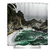 Big Sur's Emerald Oaza Shower Curtain by Eduard Moldoveanu