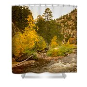 Big Thompson River 10 Shower Curtain by Jon Burch Photography