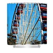 Big Wheel Shower Curtain by Kaye Menner