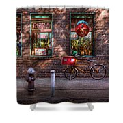 Bike - Ny - Chelsea - The Delivery Bike Shower Curtain by Mike Savad