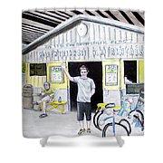 Bike Pittsburgh Shower Curtain by Albert Puskaric