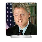 Bill Clinton Shower Curtain by Georgia Fowler